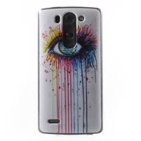 Gelový obal na LG G3 s - oko barev