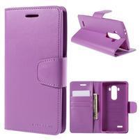 Sonata peněženkové pouzdro na LG G4 - fialové
