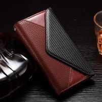 Enlop peněženkové pouzdro na LG G4 - hnědé/černé