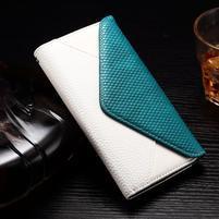 Enlop peněženkové pouzdro na LG G4 - modré/bílé