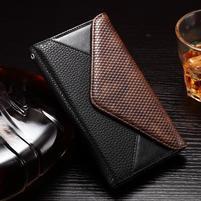 Enlop peněženkové pouzdro na LG G4 - černé/coffee