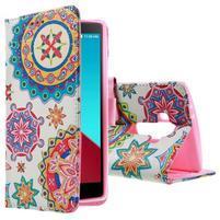 Call peněženkové pouzdro na LG G4 - kaleidoskop
