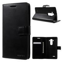 Luxury PU kožené pouzdro na mobil LG G4 - černé
