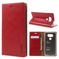 Luxury PU kožené pouzdro na mobil LG G5 - červené