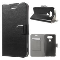 Horse PU kožené peněženkové pouzdro na LG G5 - černé