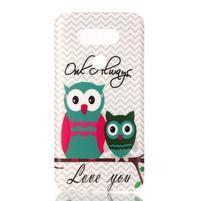 Gelový obal na mobil LG G5 - sovičky