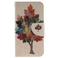 Obrázkové koženkové pouzdro na LG G5 - barevný strom