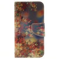 Obrázkové koženkové pouzdro na LG G5 - malované listí