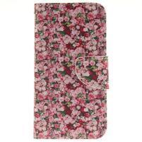 Obrázkové koženkové pouzdro na LG G5 - růže