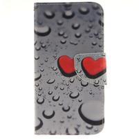 Obrázkové koženkové pouzdro na LG G5 - srdce