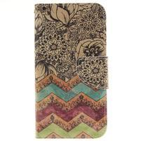 Obrázkové koženkové pouzdro na LG G5 - malované květiny