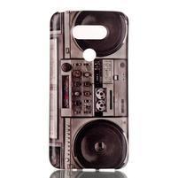 Gelový obal na mobil LG G5 - retro radio