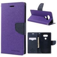 Goos stylové PU kožené pouzdro na LG G5 - fialové