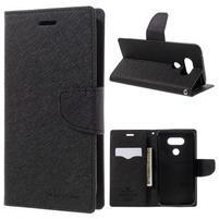 Goos stylové PU kožené pouzdro na LG G5 - černé