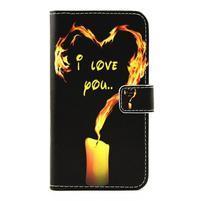 Pouzdro na mobil LG G5 - ohnivá láska