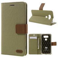 Diary PU kožené pouzdro na mobil LG G5 - khaki