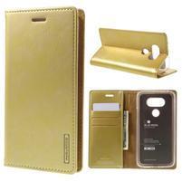 Luxury PU kožené pouzdro na mobil LG G5 - zlaté