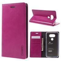 Luxury PU kožené pouzdro na mobil LG G5 - rose