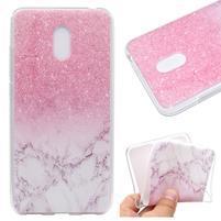 Patty gelový obal na Meizu M6 - růžové mramorování