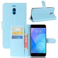 Litchi PU kožené pouzdro na Meizu M6 Note - modré