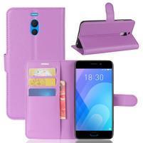 Litchi PU kožené pouzdro na Meizu M6 Note - fialové