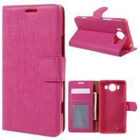 Cloth peněženkové pouzdro na mobil Microsoft Lumia 950 - rose