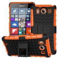 Outdoor odolný kryt na mobil Microsoft Lumia 950 - oranžový