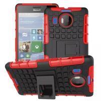 Odolný outdoor obal na mobil Microsoft Lumia 950 XL - červený