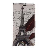 Emotive PU kožené pouzdro na BlackBerry Priv - Eiffelova věž