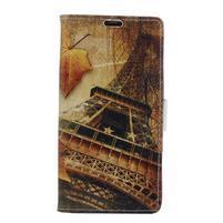 Emotive PU kožené pouzdro na BlackBerry Priv - Eiffelka