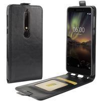 Flipové PU kožené pouzdro na Nokia 6.1 - černé