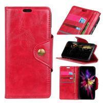 Retro PU kožené pouzdro na Nokia 6.1 - červené