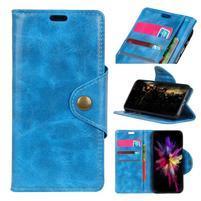 Retro PU kožené pouzdro na Nokia 6.1 - modré