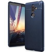 IVS gelový odolný obal s texturou na Nokia 7 Plus - tmavě modrý