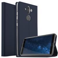 Stand Luxury PU kožené klopové pouzdro na Nokia 8 Sirocco - tmavě modré