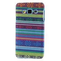 Obal potažený látkou na Samsung Galaxy A3 - mix barev I