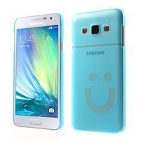 Plastový obal na Samsung Galaxy A3 - modrý