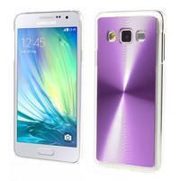 Metalický plastový obal na Samsung Galaxy A3 - fialový