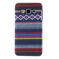 Obal potažený látkou na Samsung Galaxy A3 - mix barev II