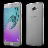 Gelový obal 2v1 pro zadní kryt a displej na Samsung Galaxy A5 (2016) - šedý