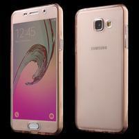 Gelový obal 2v1 pro zadní kryt a displej na Samsung Galaxy A5 (2016) - rose gold