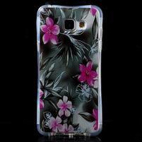Tvarovaný gelový obal na Samsung Galaxy A5 (2016) - květiny