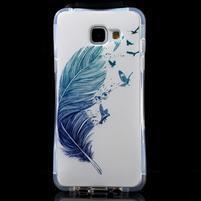 Tvarovaný gelový obal na Samsung Galaxy A5 (2016) - ptačí peříčko