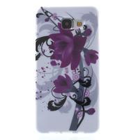 Obal s motivem na mobil Samsung Galaxy A5 (2016) - fialový květ