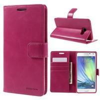 Luxusní PU kožené pouzdro na mobil Samsung Galaxy A5 (2016) - rose