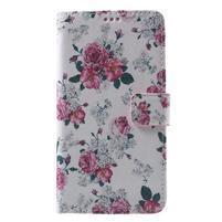 Koženkové pouzdro na Samsung Galaxy A5 (2016) - květiny