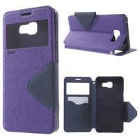Peněženkové pouzdro s okýnkem na Samsung Galaxy A5 (2016) - fialové