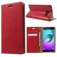 Moon PU kožené pouzdro na Samsung Galaxy A5 (2016) - červené