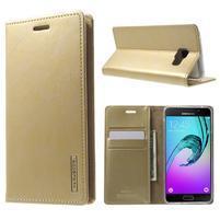 Moon PU kožené pouzdro na Samsung Galaxy A5 (2016) - zlaté