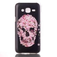 Soul plastový obal na Samsung Galaxy J5 - květinová lebka